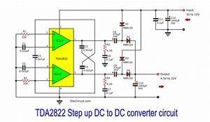 Step Up Converter Circuit Using Tda2822