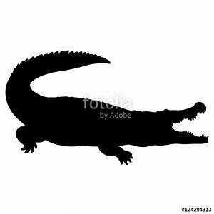 Alligator Vector Silhouette | www.pixshark.com - Images ...