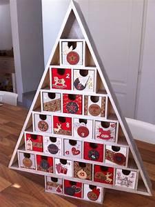 Sapin En Bois Cultura : calendrier de l 39 avent avec support bois en forme de sapin ~ Zukunftsfamilie.com Idées de Décoration