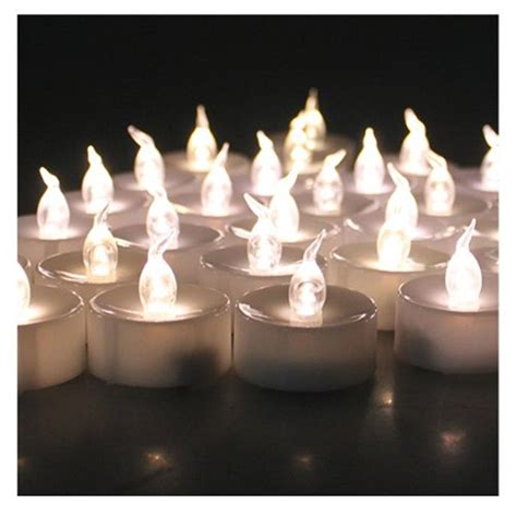 24pcs small plastic wholesale flameless candle with timer