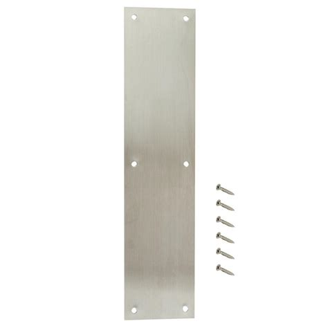 prime line 4 in x 16 in brite brass door push plate j