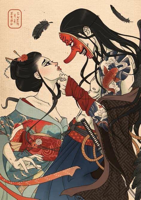 pin  wu lei  japanese geisha samurai opera yakuza