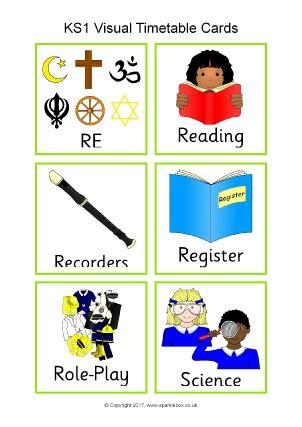 Classroom Visual Timetable Printable Resources Ks1 & Ks2 Sparklebox
