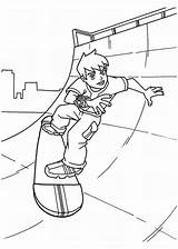 Skateboard Coloring Pages Ben Skating Sheets Playing Young Printable Freecoloringpages Getcoloringpages Afkomstig Van sketch template