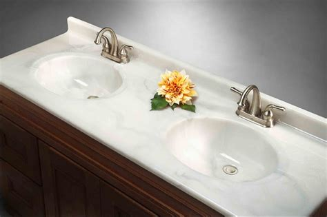 bathroom countertop with built in sink bathroom countertops with granite karenpressley com