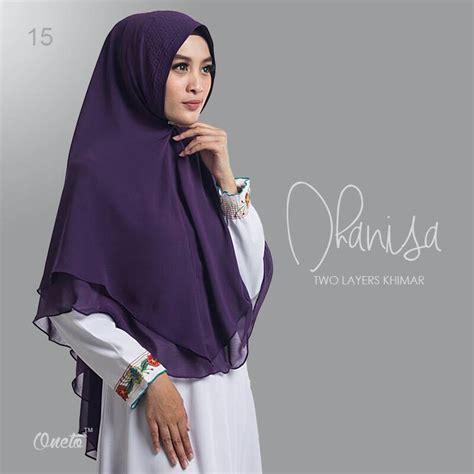 hijab syari  layers khimar dhanisa  modis modern