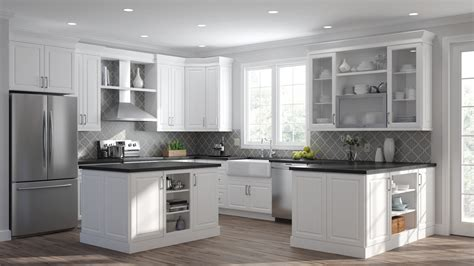 elgin wall cabinets  white kitchen  home depot