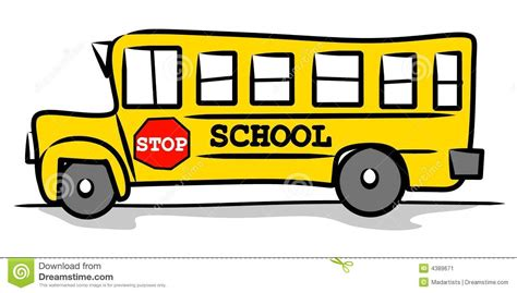 Drawing School Bus Clip Art
