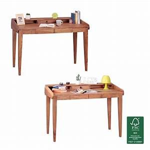Schreibtisch Design Holz : finebuy schreibtisch massiv holz sekret r 117cm breit mit 3 schubladen design ablage b ro tisch ~ Eleganceandgraceweddings.com Haus und Dekorationen