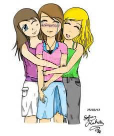 Best Friends Hugging Drawing