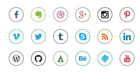 Free Mini Rounded Social Icon Set Titanui
