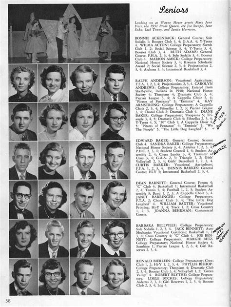 Columbus High School (CHS) 1952 Yearbook (Log) Historic ...
