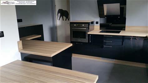 cuisine et bois cuisine noir mat et bois ides pour rnover la cuisine