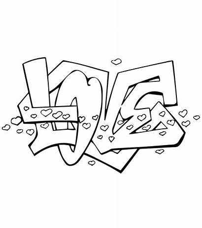 Coloring Pages Graffiti Printable Letters Mom Bubble