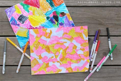 Crumpled Paper Art-kids Craft