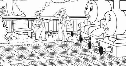 Coloring Engine Steam Thomas James Train Tank