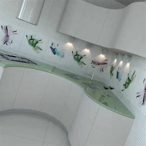 desain keramik dinding motif bunga interior rumah