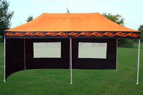 enclosed pop  canopy party folding tent gazebo orange flame  model ebay