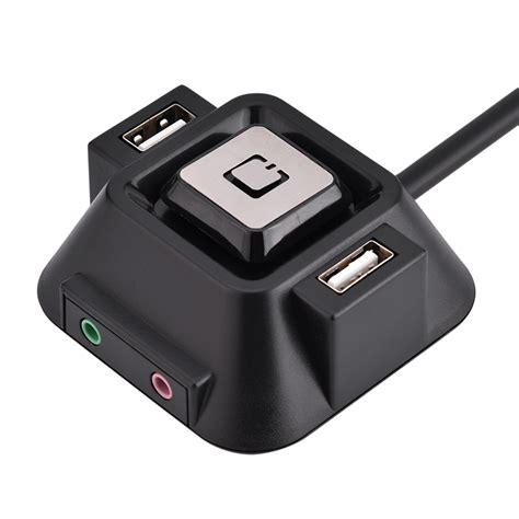 usb port l desktop pc switch dual usb ports power reset button