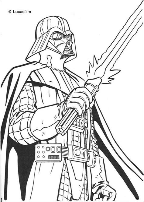 star wars coloring pages darth vader coloring home