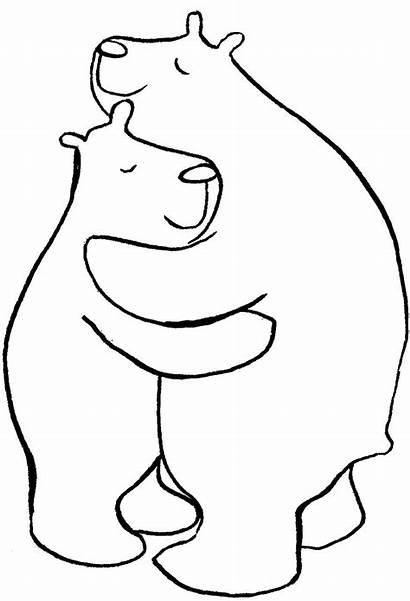 Hug Bear Coloring Hugs Pages Bears Template