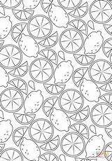 Coloring Pattern Lemon Pages Fruit Printable Printables Adult Drawing Books Categories sketch template