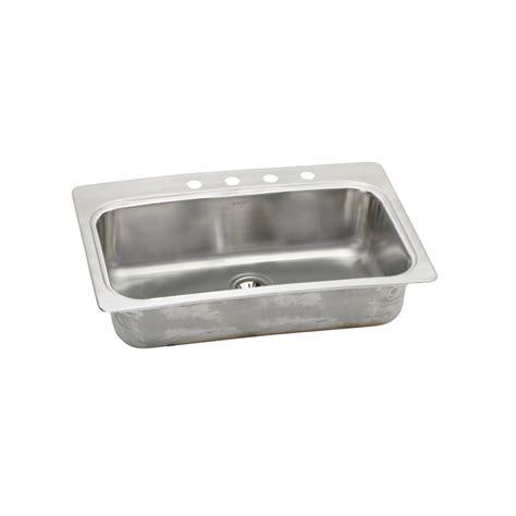 shop elkay      stainless single basin drop   undermount kitchen sink  lowescom