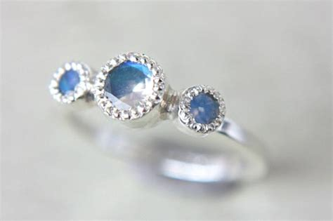 Moonstone Engagement Ring Vintage Inspired By Manaridesign