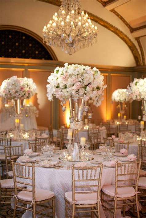 Elegant White and gold Wedding Reception Tablescapes
