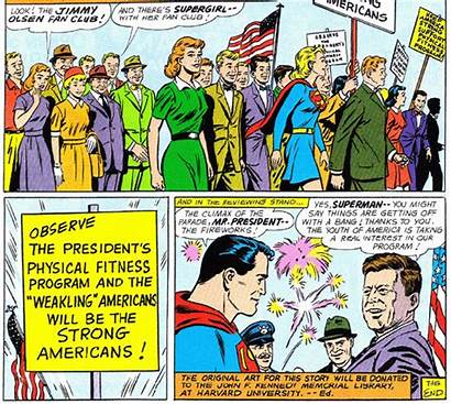 Jfk Superman Plastino Comics Dc Legacy Nationalenquirer