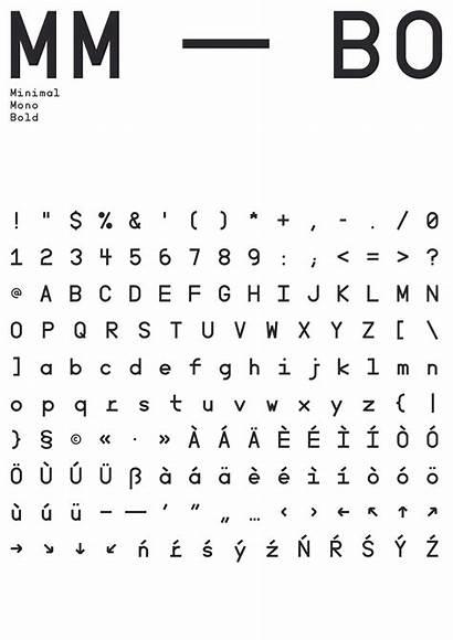 Font Mono Minimal Befonts Published Behance