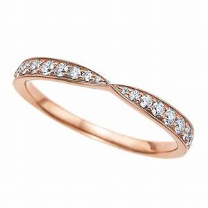 tiffany has captured our hearts with its rose gold With rose gold wedding band engagement ring