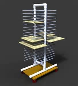alibre design painting rack for cabinet doors etc alibre design step iges 3d cad model grabcad
