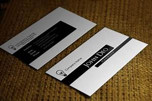 Free black and white business card template for Black and white business card template