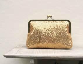 Gold Sequin Clutch Purse