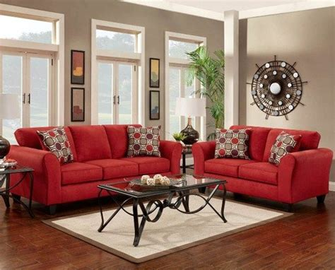 step  decorate red couch living room design tophome