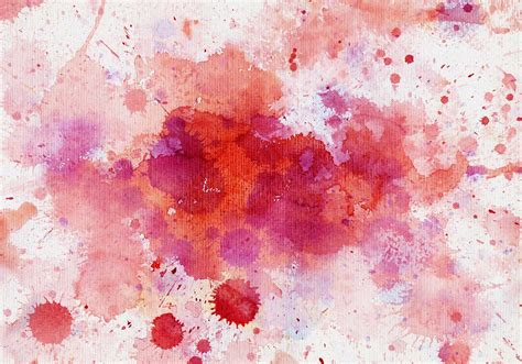watercolour splats in red n pink Free Photoshop Brushes