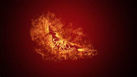fire butterflies wallpaper