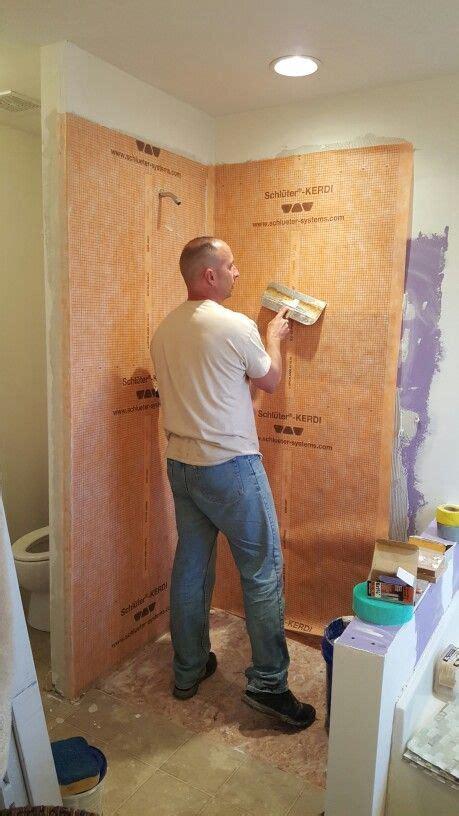 schluter kerdi waterproof membrane  shower walls