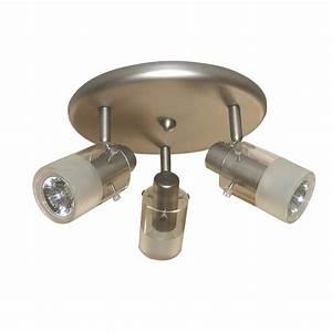 Hampton bay light brushed steel ceiling mount round