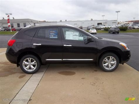 black nissan rogue wicked black 2011 nissan rogue sv awd exterior photo