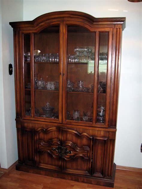 set solid oak wood china cabinet  side serving