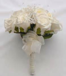 small wedding bouquets brides small bouquet with ivory foam roses small flowers 39 s flowers