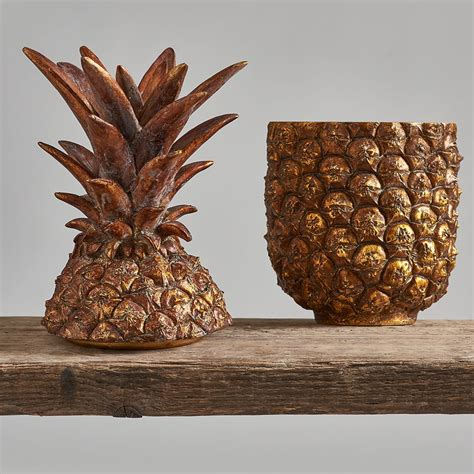 Antique Gold Pineapple Box