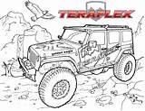 Coloring Jeep Road Truck Kolorowanki Teraflex Monster Cartoon Drawings Adults Boys Coloringpagesfortoddlers Zapisano sketch template