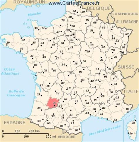 lot et garonne map cities and data of the departement