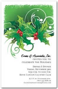 sprigs of holly holiday invitations christmas invitations