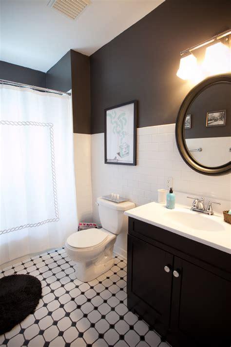 gorgeous black  white bathrooms huffpost