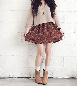 Skirt and sweater hipster combo | vogue | Pinterest ...
