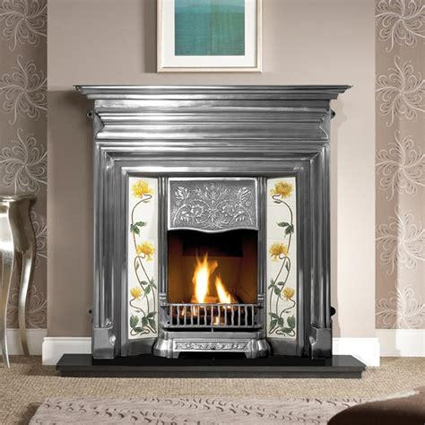 edwardian cast iron combination fireplace  victorian